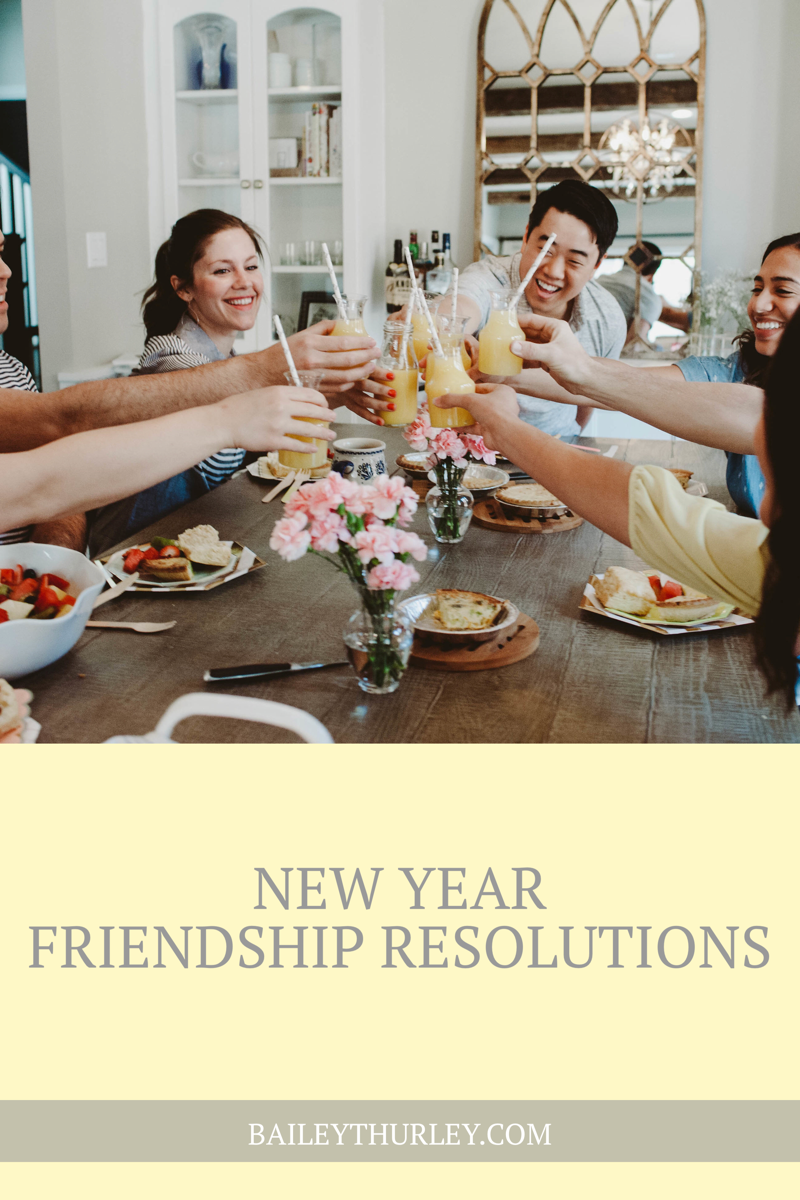 New Year FRIENDSHIP Resolutions
