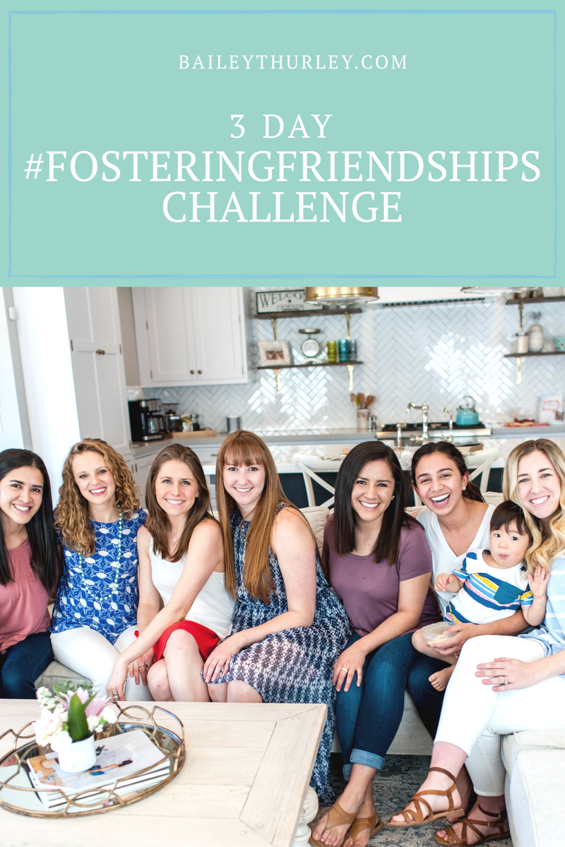 3 Day #FosteringFriendships Challenge