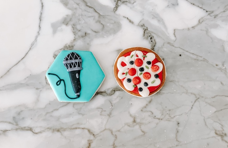 Podcast and Pizza Party Cookies