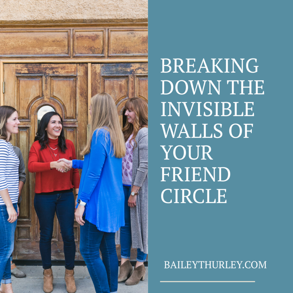 Breaking down the invisible walls of your friend circle