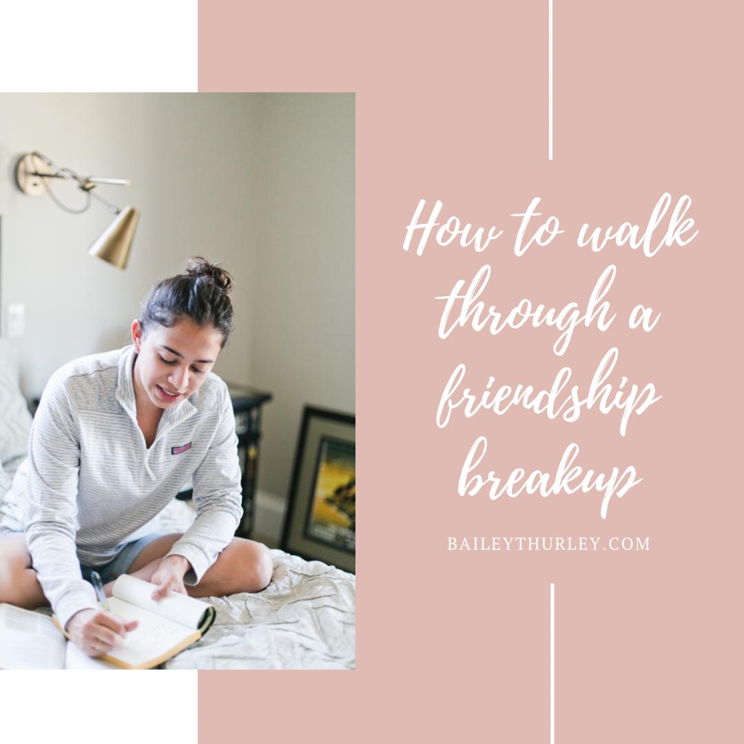 How to walk through a Friendship Breakup